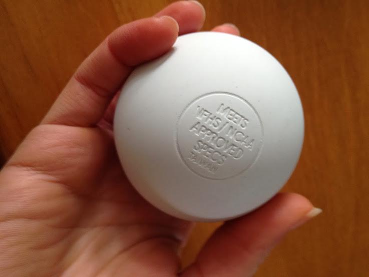 White lacrosse ball