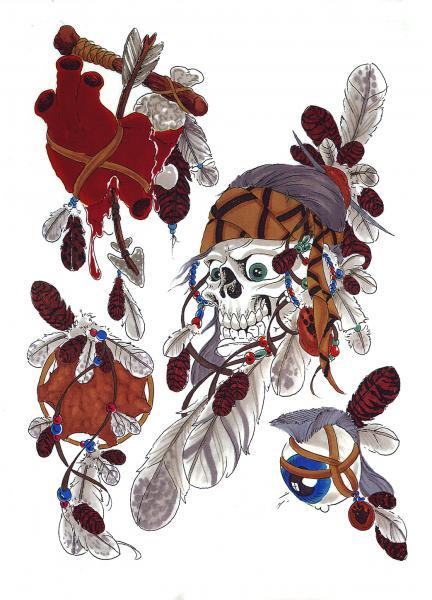 Design Of Mystical Tattoo, Fantasy Tattoo Designs