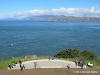 Vista point atop a flight of stairs close to USS San Francisco Naval Memorial in southern section of Land's End Park.