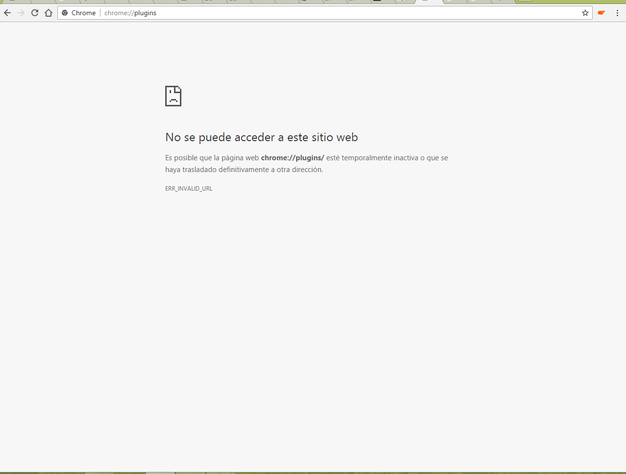 Google Chrome No Carga Ninguna Pagina: No Carga Pagina Chrome://plugins/