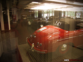 Cars are stored ready to be shipped to a festival, event or show.