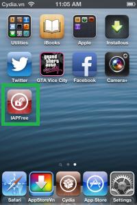 biểu tượng iAPFree trên màn hình