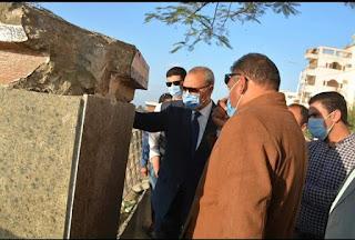 """""""الهجان"""" يتابع أعمال تطوير كورنيش النيل بمدينة بنها ويوجه بسرعة دفع الأعمال للانتهاء منها في أقرب وقت"""