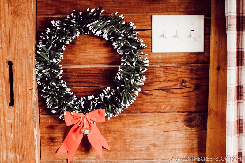 Cute & cheap Christmas wreath found at the Dollar Tree!