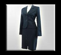 Vestido para dama elegante con falda y chaqueta dotación para oficina.