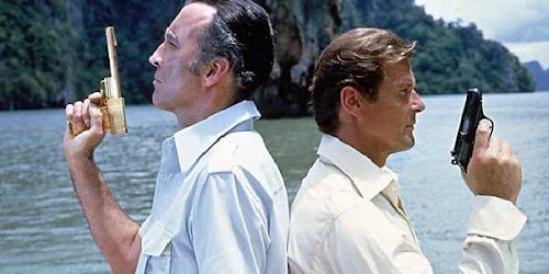 Photo of Bond & Scaramanga Beach Duel Movie Pose