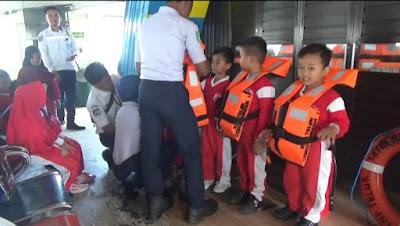 Ajak Anak Usia Dini Berlayar, ASDP Edukasi Keselamatan di Atas Kapal