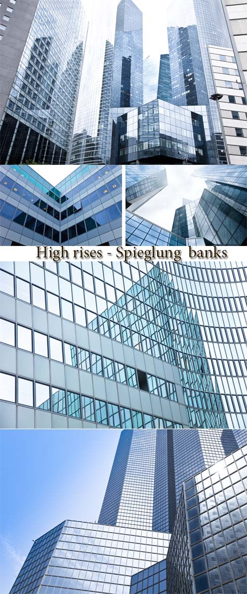 Stock Photo: High rises - Spieglung  banks