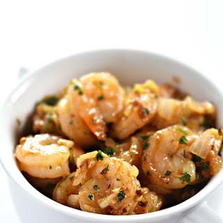 Brown Butter Garlic Shrimp.