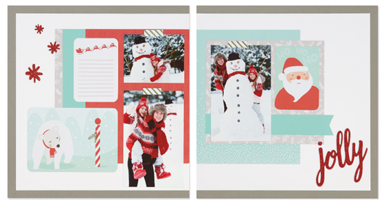 2016-11 Happy, Happy Christmas - layout 2