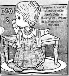 Muerte de Josefa Ortiz de Dominguez para colorear