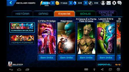 Missões Especiais - Guardiões da Galáxia