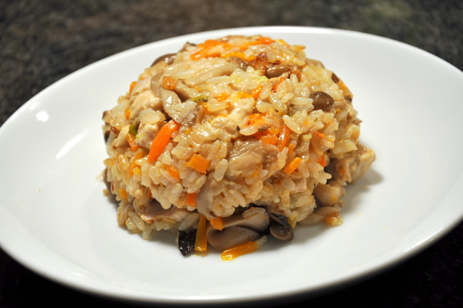 Yum!Panda: Japanese Rice with Chicken and Vegetables - Takikomi Gohan