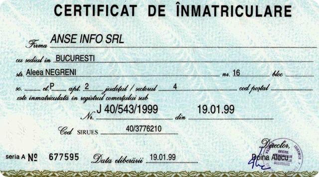 Certificat Inmat