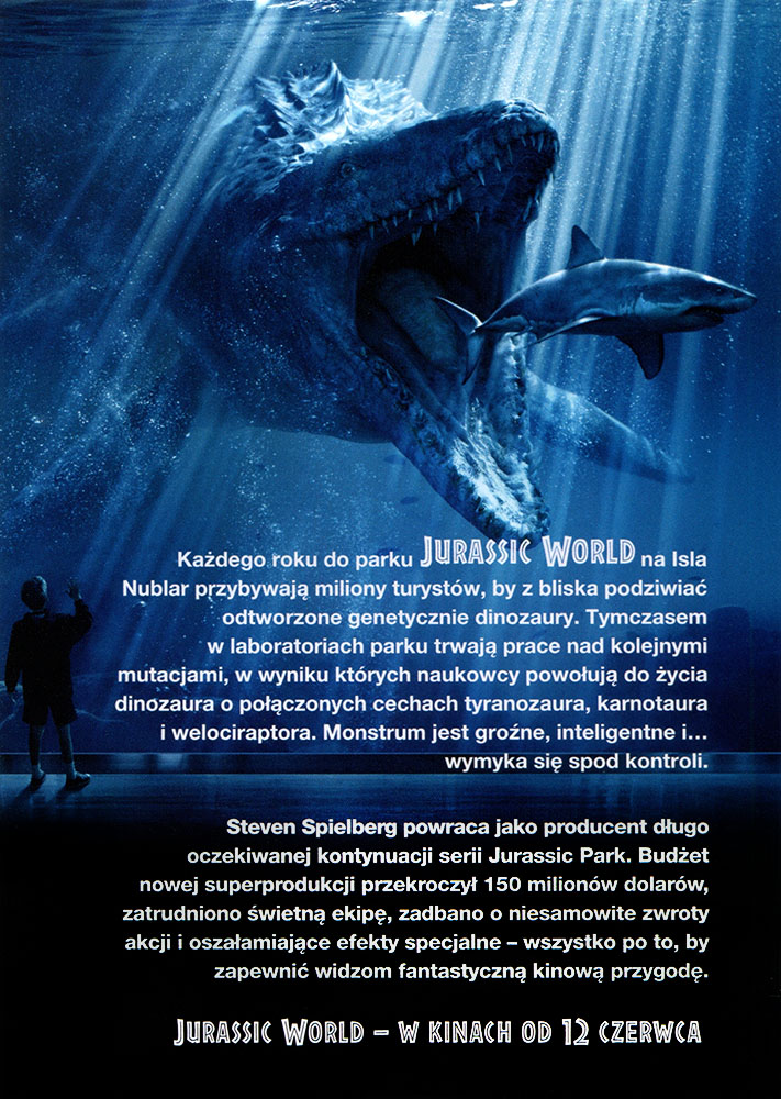 Ulotka filmu 'Jurassic World (tył)'