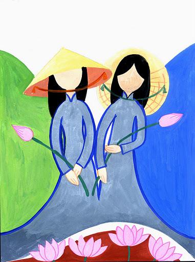 Hai gương mặt nữ áo lam mà tôi trọn đời kính trọng