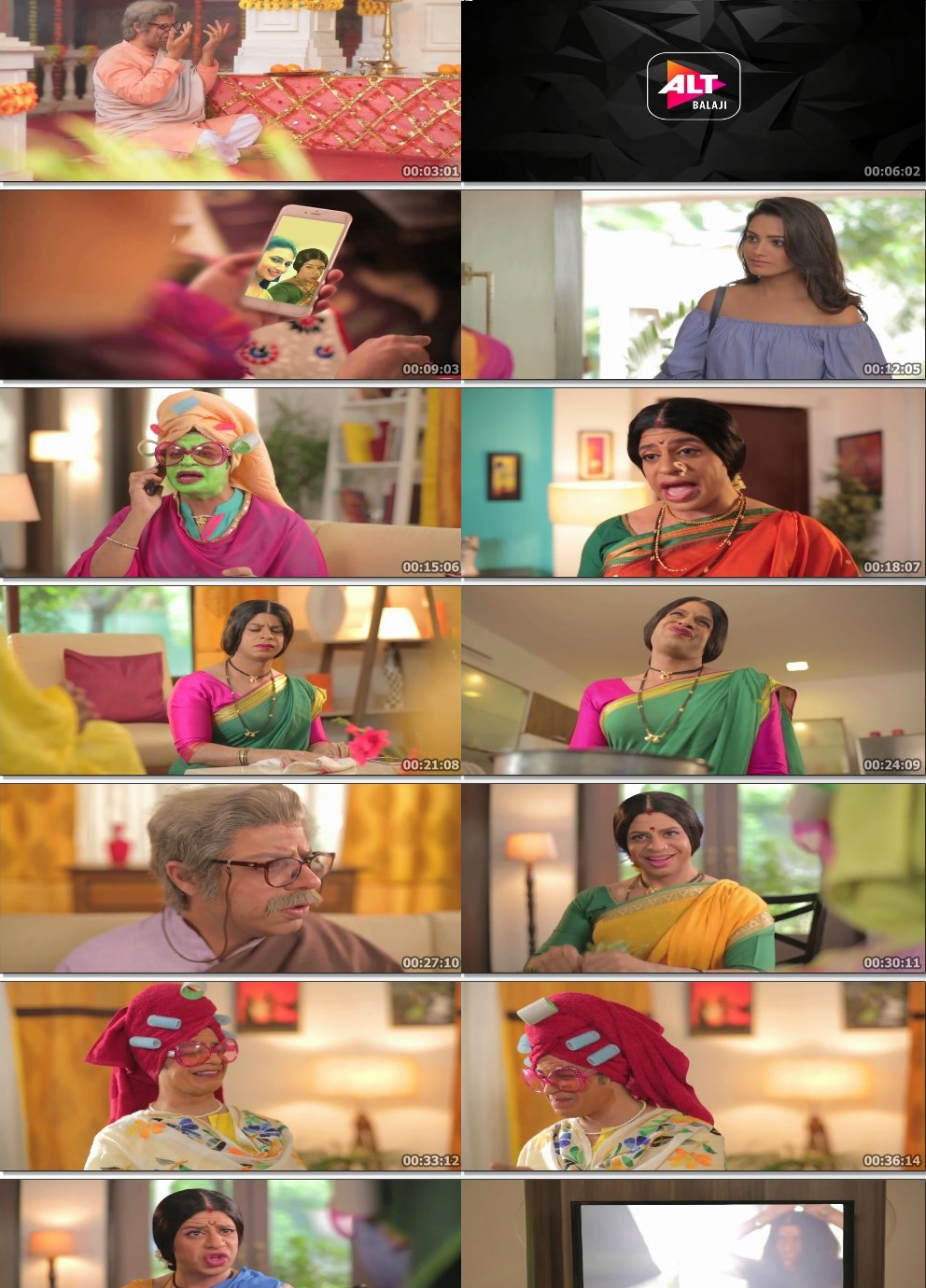 Screenshots Of Hindi Show Pammi Aunty Season 01 2019 Complete - All Episodes 300MB 720P HD