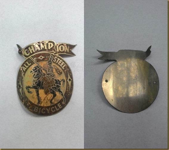 Emblem sepeda ontel kuno Champion
