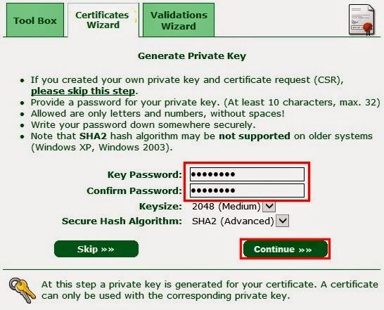 Gerar chave para criptografia