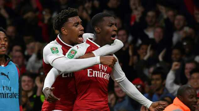 'My Decisive Double In The EFL Cup A Dream Come True'- Arsenal's 18-Year Old Striker Nketiah Speaks