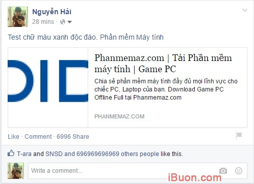 Ảnh mô phỏngViết chữ màu xanh trên Facebook, Status màu xanh như thế nào - viet-chu-mau-xanh-tren-facebook-2