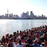 busy queue at the Cabana Poolbar in Toronto in Toronto, Ontario, Canada