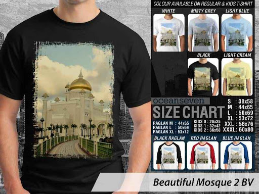 Kaos Muslim Islam Beautiful Mosque 2 distro ocean seven