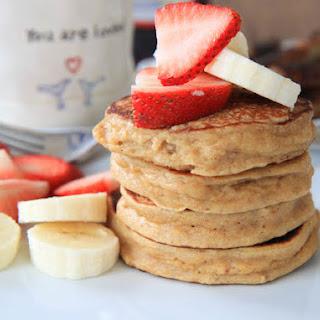 Sunday Morning Strawberry Yogurt Pancakes.