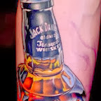 Jack Daniels Whiskey - tattoos ideas