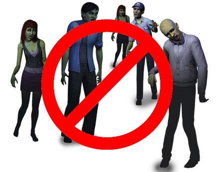 No zombies sims 3
