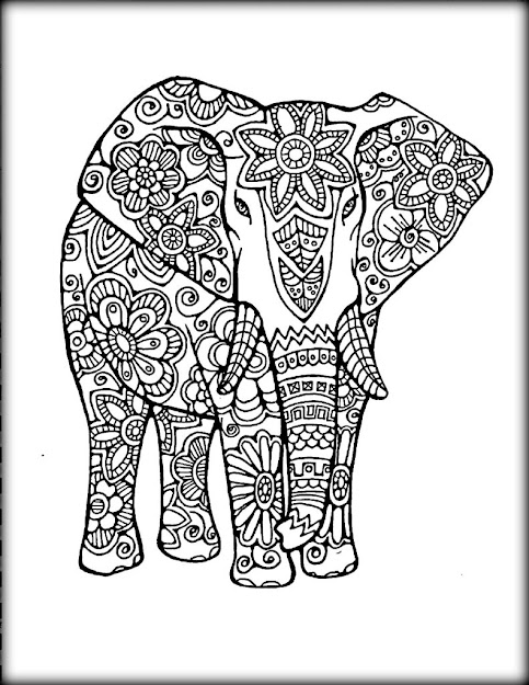 Mandala Coloring Elephant With Free Mandala Design Coloringfitc