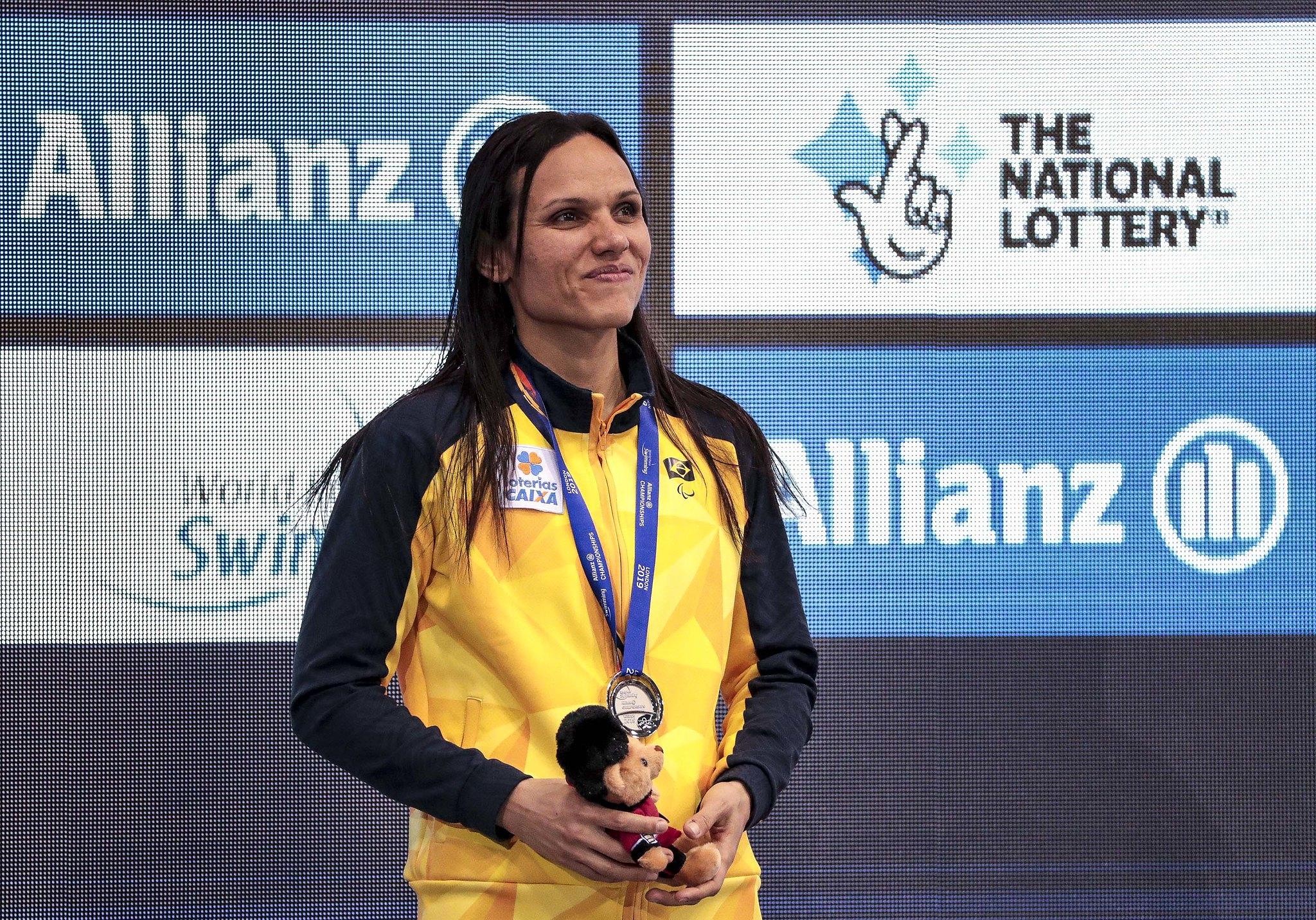 Carol Santiago no Mundial de Natação Paralímpica 2019
