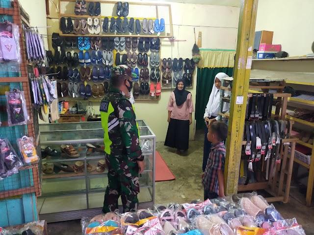 Sertu Ardhi Syam Melakukan Sosialisasi pasar tradisional Kelurahan Minas