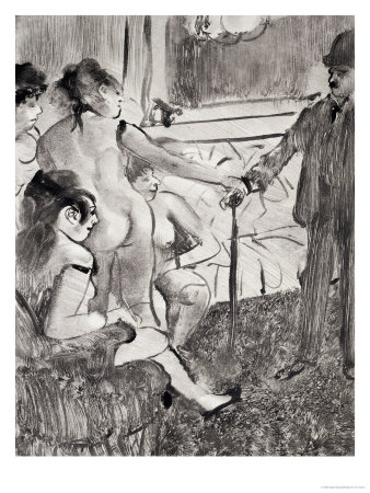 Degas Edgar Illustration From La Maison Tellier By Guy De Maupassant 1933, Guy De Maupassant