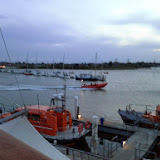 ILB heading out into Holes Bay on a shout - 6 June 2014. Photo credit: Sarah King, Poole RNLI