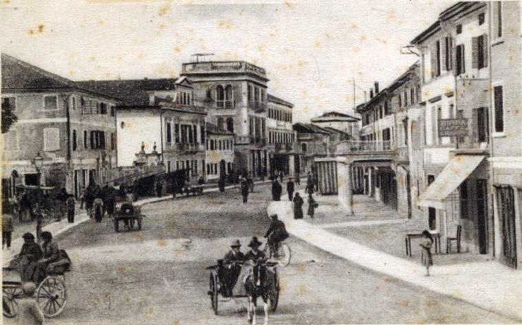 Via Maggiore di San Donà di Piave prima dello scoppio della prima guerra mondiale