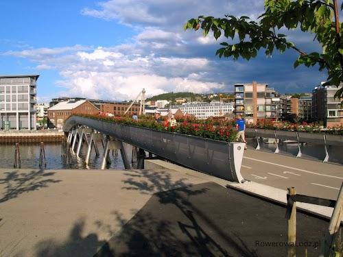 Most pieszo-rowerowy do dzielnicy Nedre Elvehavn