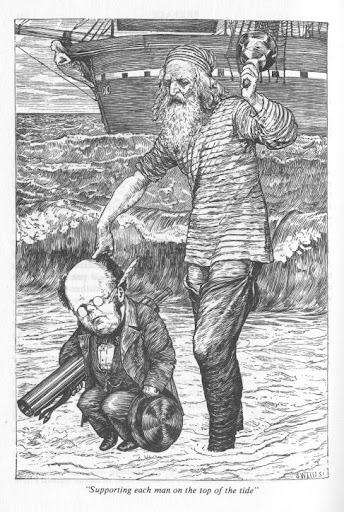 Caccia allo Snaulo illustrazione di Henry Holiday
