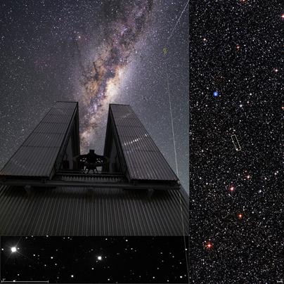 telescópio NTT e a estrela ultrapobre em metais