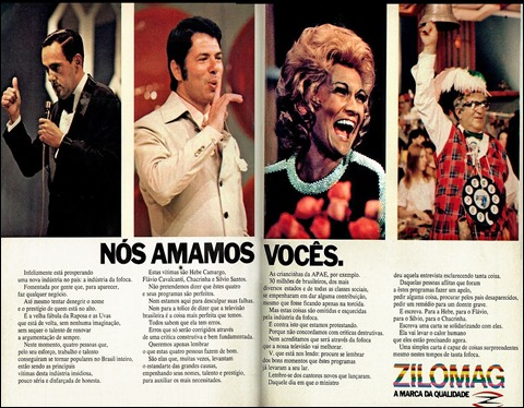 anuncio Zilomag - 1972