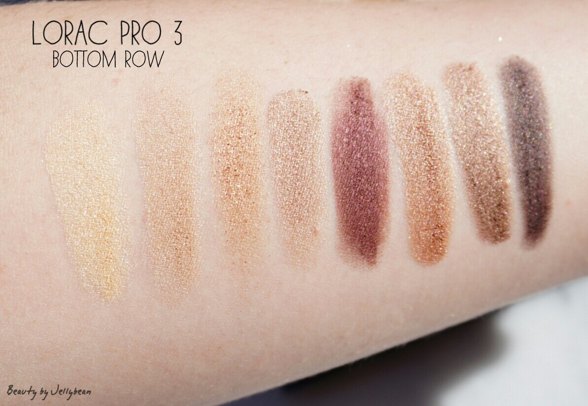 lorac pro 3 palette swatches review