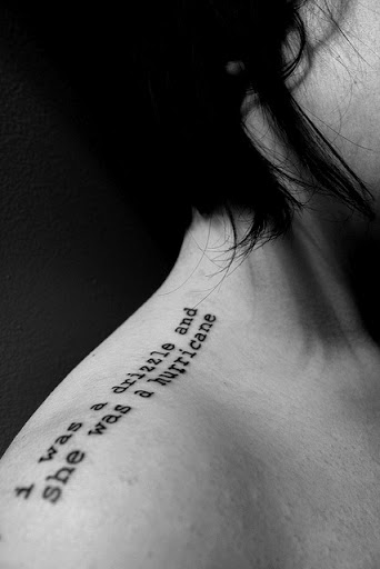 Quotes shoulder tattoos