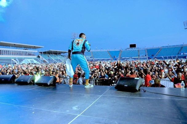 Picture Of Wizkid Performing In Botswana Despite News Of A Poor Turnout