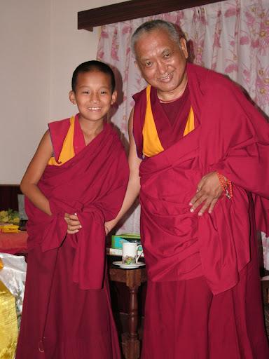 Geshe Sengye's incarnation - whome Rinpoche helps sponosr