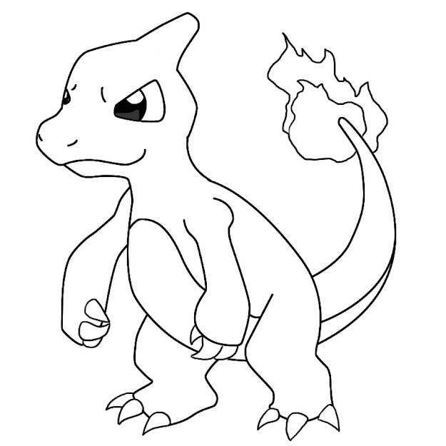 Charmander Coloring Page