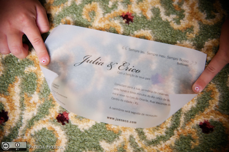 Foto de casamento 0016 de Julia e Erico. Marcações: 05/12/2009, Casamento Julia e Erico, Convite, Convite de Casamento, Gizela Studio 311, Rio de Janeiro.