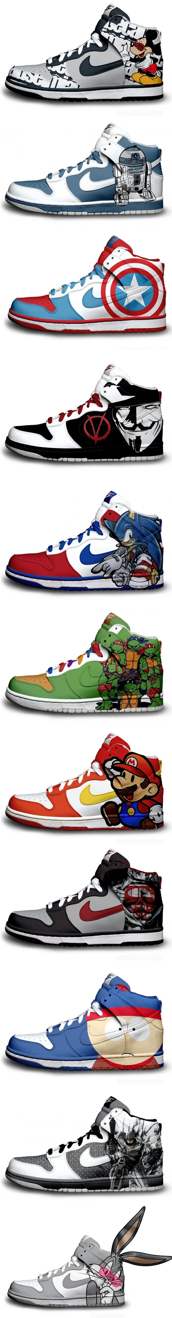 Themed Nike Shoes