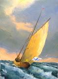 sztorm, olej, płótno, 27x41 cm