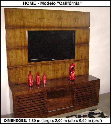 painel de madeira com rack