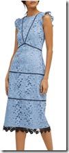 Warehouse Scallop Hem Lace Dress